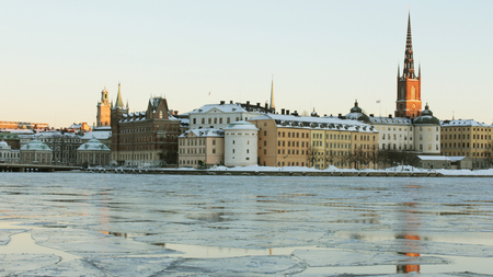 northern european: View over Stockholm in winter.