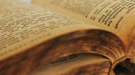 Pages of ancient vintage Bible.