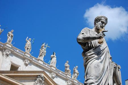 Sculpture of Saint Peter in Vatican Editorial
