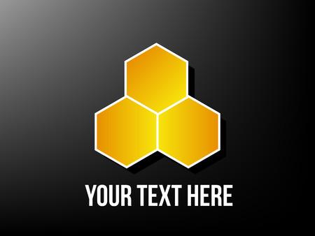 bee on flower: Honeycomb design