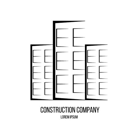 Real estate buildings construction company logo.