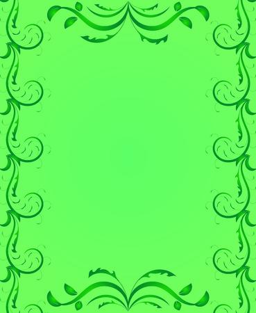 장식 페이지 프레임 녹색