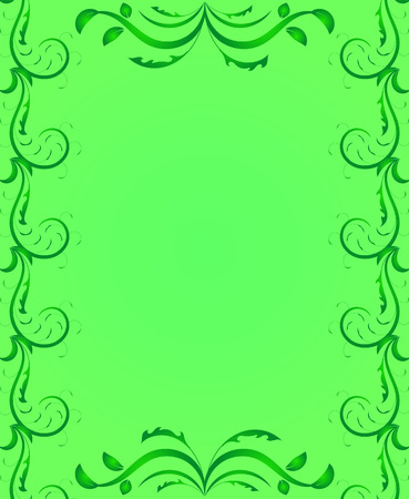 Decorative Page Frame in Green