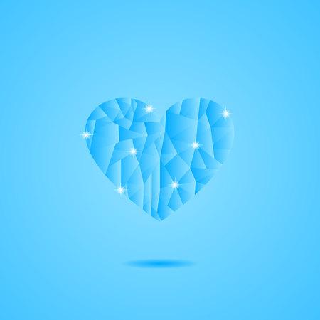 Frozen Heart on Blue pattern.