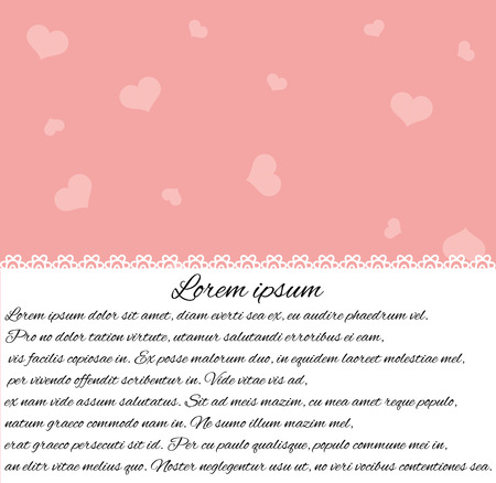 Valentine's Day frame template.
