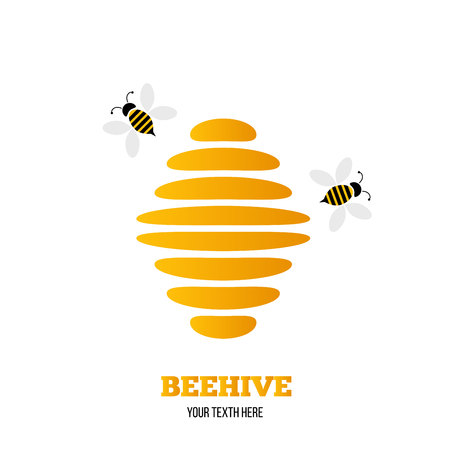 Abstract Beehive Logo isolated on white background.