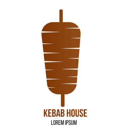 Turkish restaurant kebab meat icon.