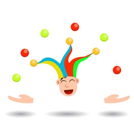 Young Boy Joker Head Juggling