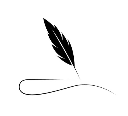 Feather Quill Logo Illustration