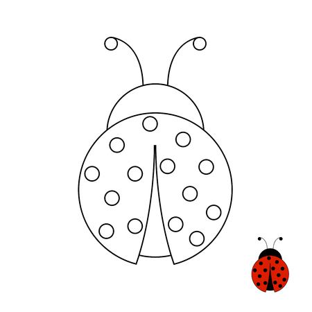 Educational assignment for preschool and kindergarten children Illustration