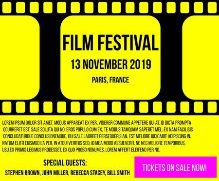 Cinema Festival Advertisement Film Reel Poster