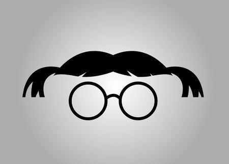 Geek girl icon