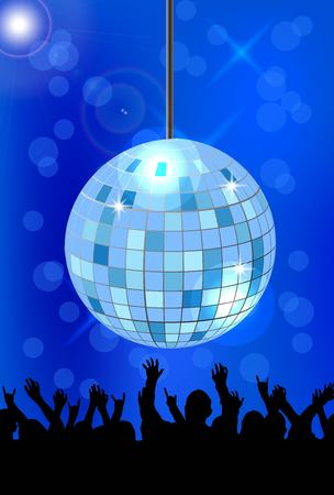 Crowd and Shiny Ball at Disco