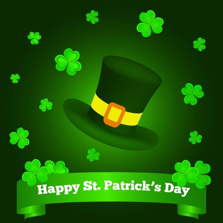 Happy St. Patricks Day Greeting on Green