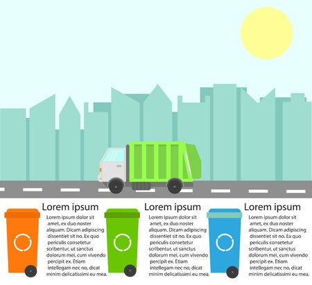 Garbage Recycling Infographics