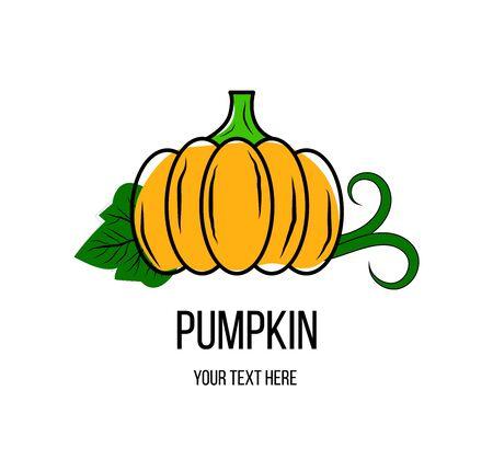 A pumpkin logo