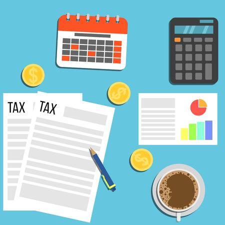 Tax Declaration Forms Banque d'images - 128920142