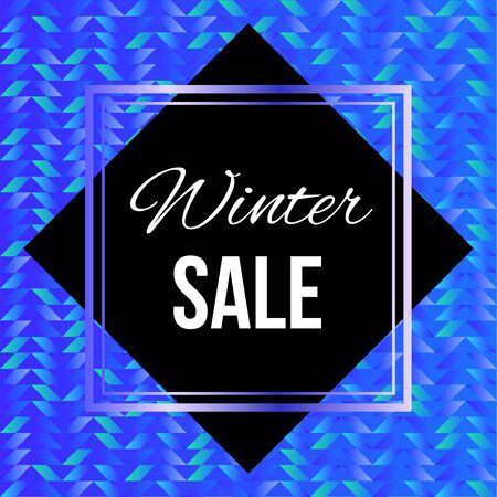 Winter Sale Poster Illustration with Cold Colors