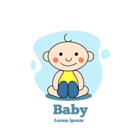 Cute baby infant logo