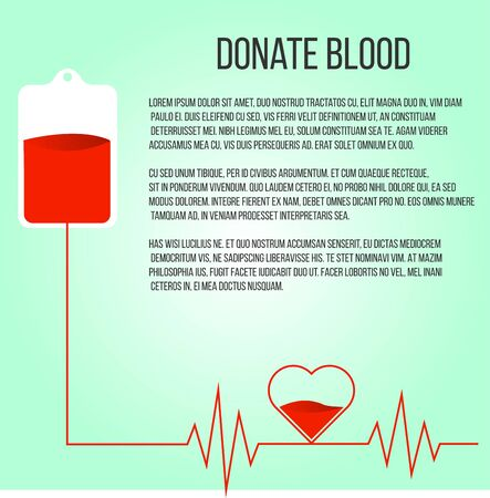 Donate Blood Campaign Poster Copy Space