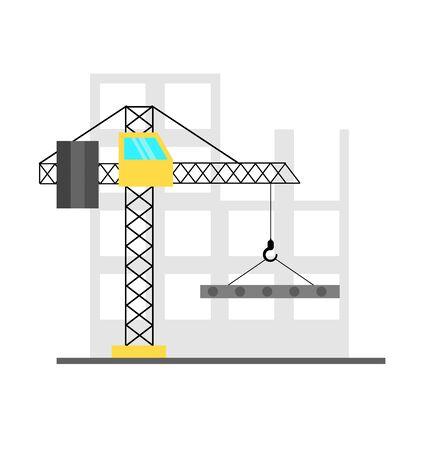 Crane at Construction Building Site