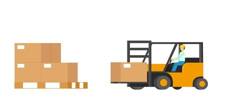 Warehouse Boxes with Human Driven Forklift