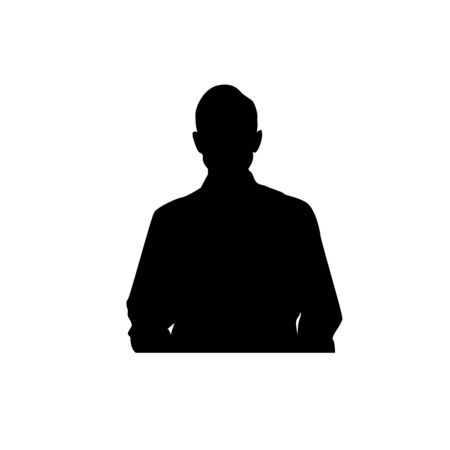 Male Bust Silhouette Illustration