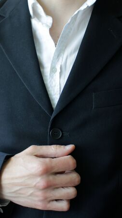 Close up of Posh Businessman in Semi-Official Suit