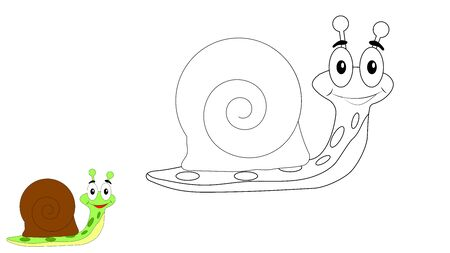 Happy Snail Coloring Page for Children