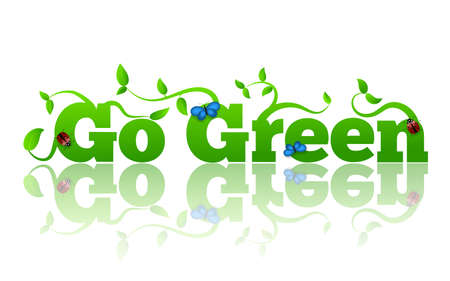 Go Green Letters with Leaves and Insects