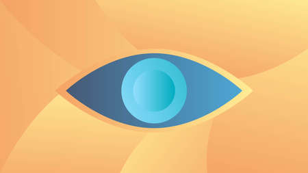 Third Eye Abstract Symbol. Psychology and esothericism concept vector art.