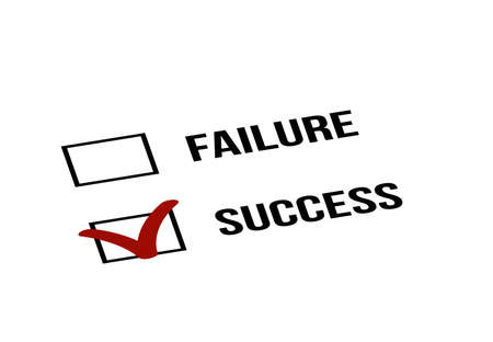 Choosing Success over Failure Business Concept.