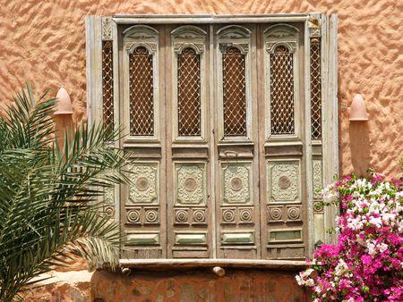 marsa: Old orient doors, Marsa Alam, Egypt, Africa
