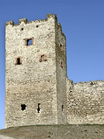 genoese: Tower of Genoese fortress in Theodosia, Crimea, Ukraine