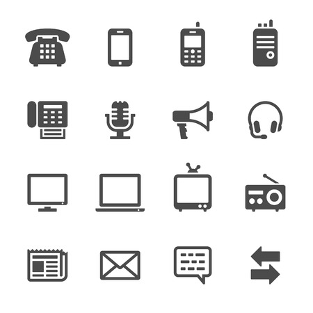fax: Communication icons Illustration