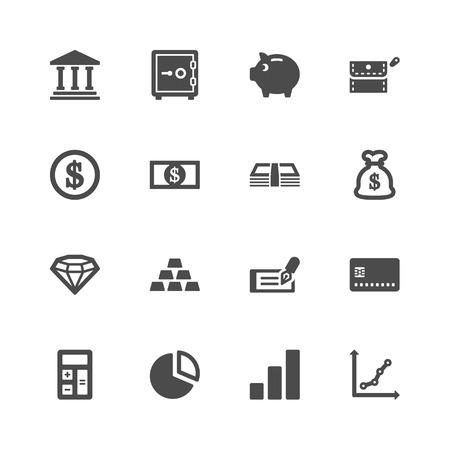 chequera: Finanzas iconos Vectores