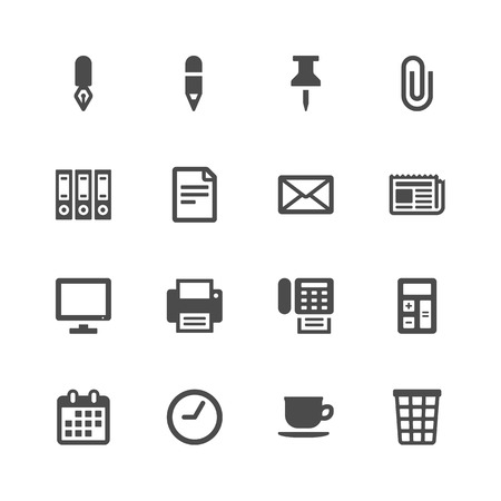 fax: Office icons Illustration