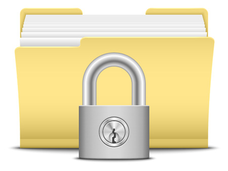 private insurance: Folder and lock