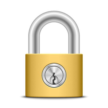 Padlock, vector illustration Vector