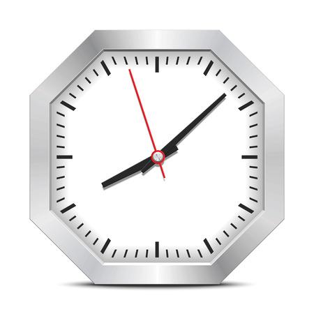 Octagon clock Ilustração
