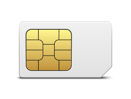 call card: Sim card Illustration