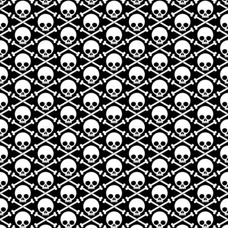 Skull and crossbones, background Ilustração