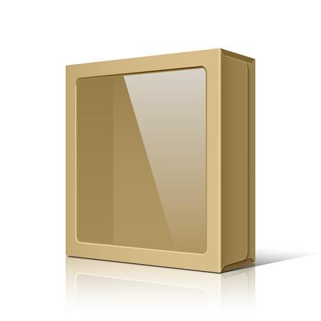 Brown package box Ilustração