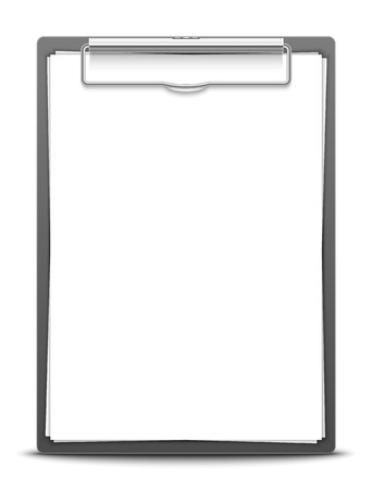 Clipboard with blank paper Vector