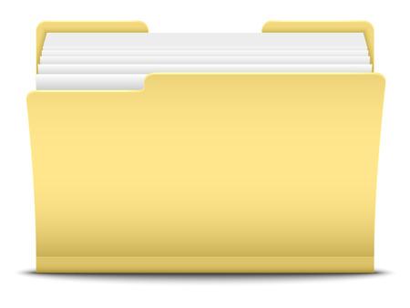 Folder, vector illustration