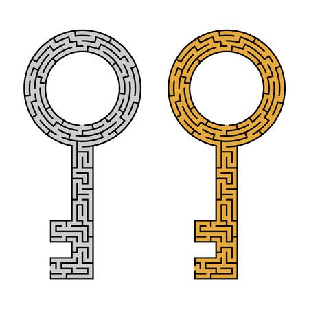Key maze Ilustração