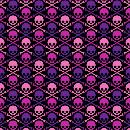 Seamless pattern with skull Ilustração