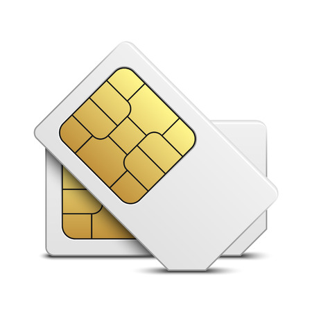 prepaid card: Sim card isolated on white background