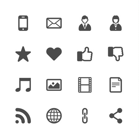 thumbs down: Social media icons Illustration