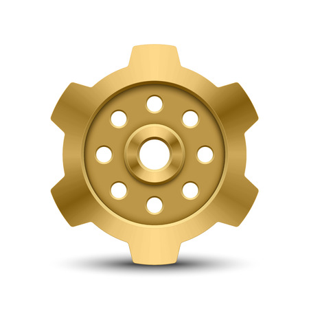 cog wheels: Gear isolated on white background
